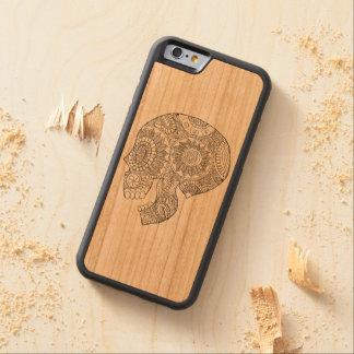 Jour mexicain de Calavera du crâne mort de sucre Coque iPhone 6 Bumper En Cerisier