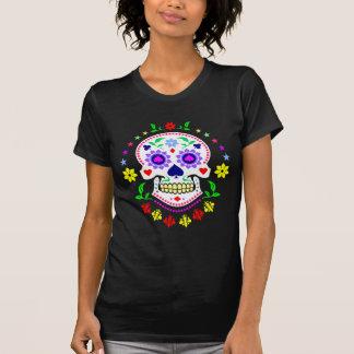 Jour mexicain du crâne décoratif mort de sucre t-shirt