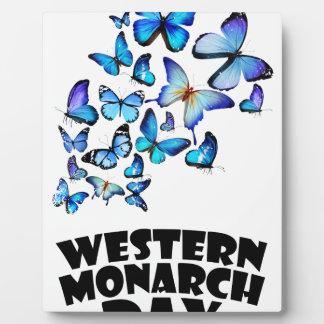 Jour occidental de monarque - jour d'appréciation photo sur plaque