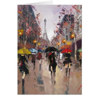 Jour pluvieux à Paris Carte De Vœux