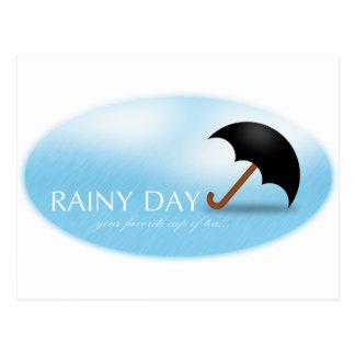 Jour pluvieux carte postale