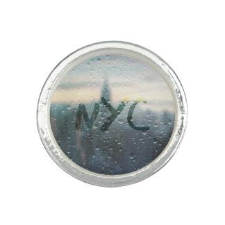 Jour pluvieux dans NYC Bague Avec Photo