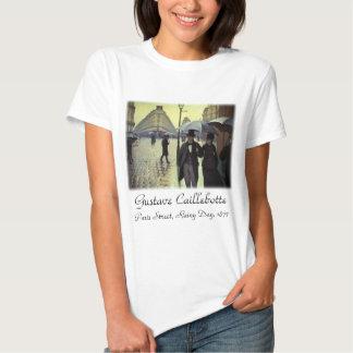 Jour pluvieux de rue de Paris par Caillebotte, art T-shirts