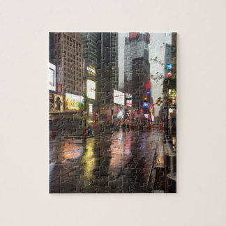 Jour pluvieux en photo du Times Square NYC New Puzzle
