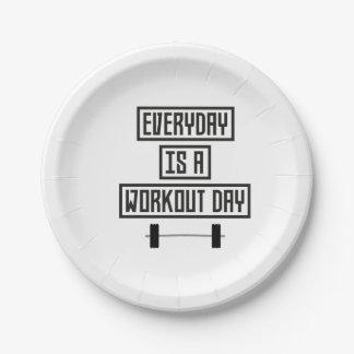 Jour quotidien Z3iqj de séance d'entraînement Assiettes En Papier