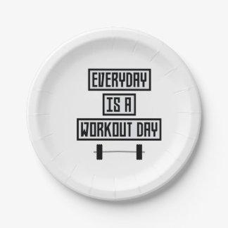 Jour quotidien Zge5d de séance d'entraînement Assiettes En Papier