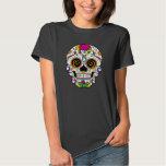 Jour rose de crâne de sucre de KRW de la pièce en T-shirt