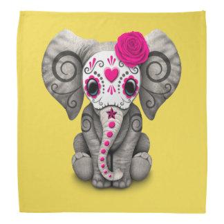Jour rose de l'éléphant mort bandanas