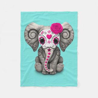 Jour rose de l'éléphant mort couverture polaire
