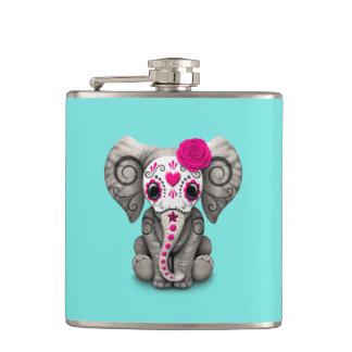 Jour rose de l'éléphant mort flasques