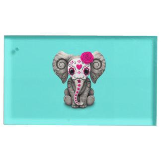 Jour rose de l'éléphant mort porte-cartes de placement