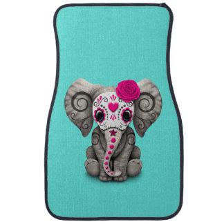 Jour rose de l'éléphant mort tapis de sol