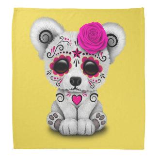 Jour rose de l'ours blanc de bébé mort bandanas