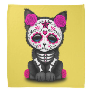 Jour rose du chaton mort bandana