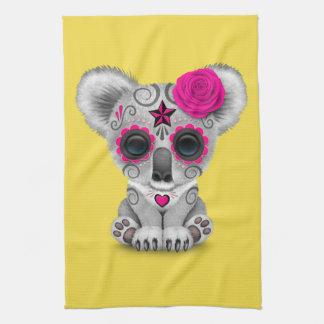 Jour rose du koala mort de bébé serviettes éponge