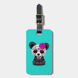 Jour rose du panda mort CUB Étiquette À Bagage