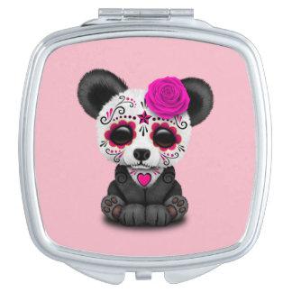 Jour rose du panda mort CUB Miroir De Voyage
