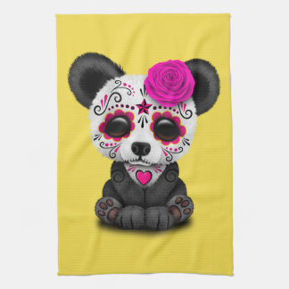 Jour rose du panda mort CUB Serviette Éponge