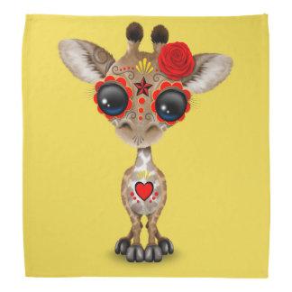 Jour rouge de la girafe morte de bébé bandana