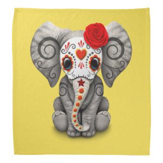Jour rouge de l'éléphant mort bandanas