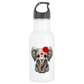 Jour rouge de l'éléphant mort bouteille d'eau en acier inoxydable