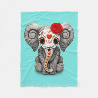 Jour rouge de l'éléphant mort couverture polaire