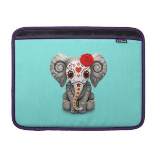 Jour rouge de l'éléphant mort poches macbook