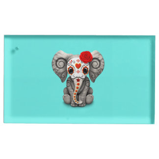 Jour rouge de l'éléphant mort porte-cartes de  table
