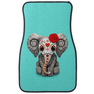 Jour rouge de l'éléphant mort tapis de voiture