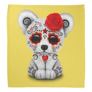 Jour rouge de l'ours blanc de bébé mort bandana