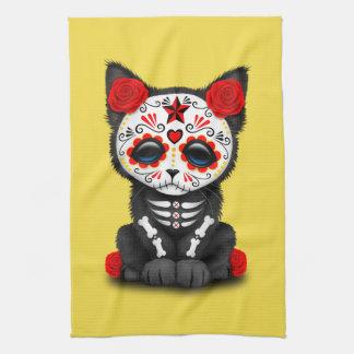 Jour rouge du chaton mort serviettes éponge