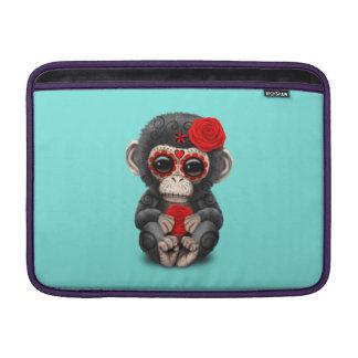 Jour rouge du chimpanzé mort poches macbook