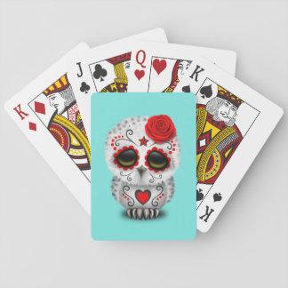 Jour rouge du hibou mort de bébé jeu de cartes