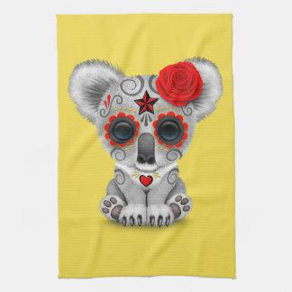 Jour rouge du koala mort de bébé serviette éponge