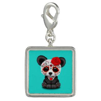 Jour rouge du panda mort breloque