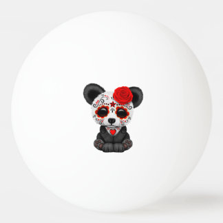 Jour rouge du panda mort CUB Balle Tennis De Table