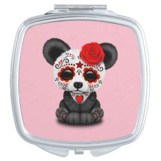 Jour rouge du panda mort miroirs compacts