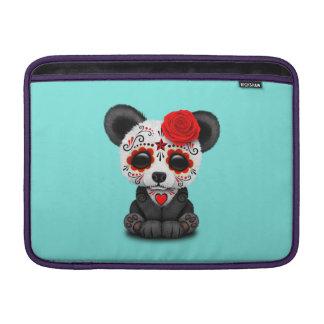 Jour rouge du panda mort poches macbook air