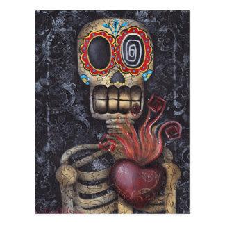 Jour sacré de coeur des morts carte postale