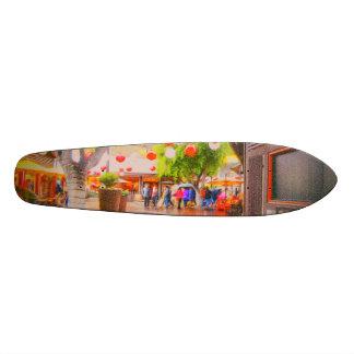 Jour sombre peu de plate-forme de patin de village mini skateboard 18,4 cm