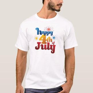 Jour T-shirt heureux du 4 juillet