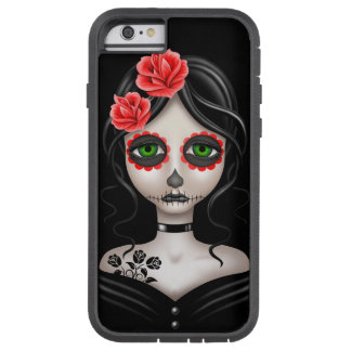 Jour triste de la fille morte sur le noir coque iPhone 6 tough xtreme