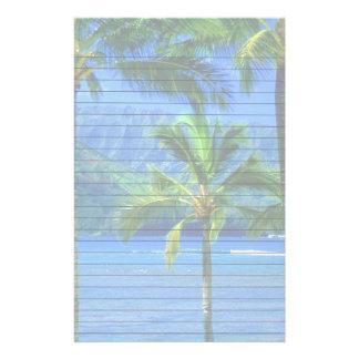 Jour tropical à la plage motifs pour papier à lettre