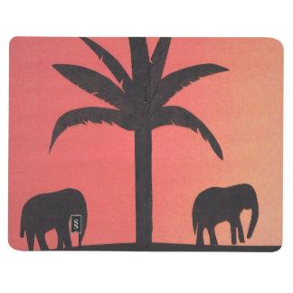 Journal avec la conception d'éléphant