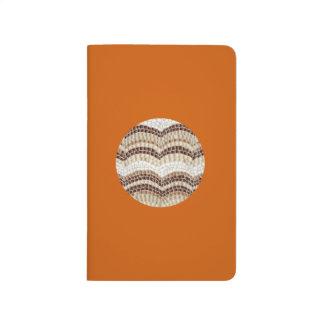 Journal beige rond de poche de mosaïque