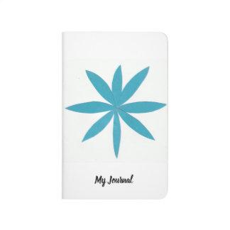 Journal blanc de poche avec la conception d'étoile
