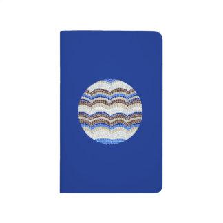 Journal bleu rond de poche de mosaïque