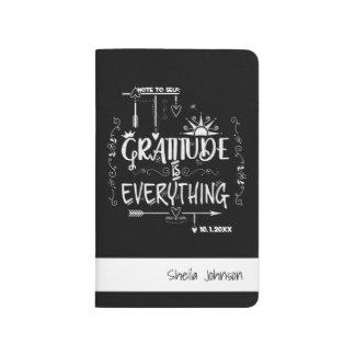 Journal de balle de gratitude avec la clé, les