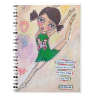 "Journal ""de ballerine de Jeanette MacDonald"" Carnets À Spirale"