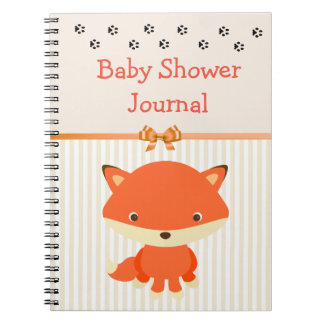 Journal de carnet de baby shower, thème d'animal